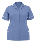 Ladies Healthcare Tunic (Sizes 8 - 30, 18 Colours or Variations - Metro Blue & Navy)